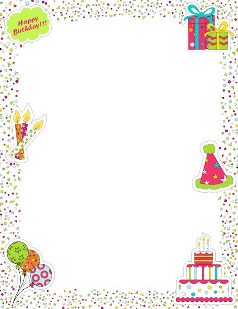 Pin By Muse Printables On Page Borders And Border Clip Art Page Borders Birthday Printables Free Printable Birthday Borders And Frames