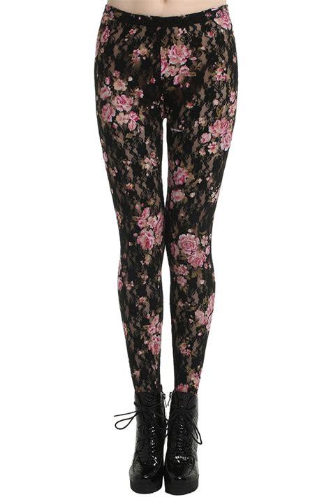 Legging Flower black flower the else