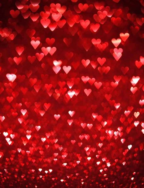 red hearts sparkles  wedding photography backdrop