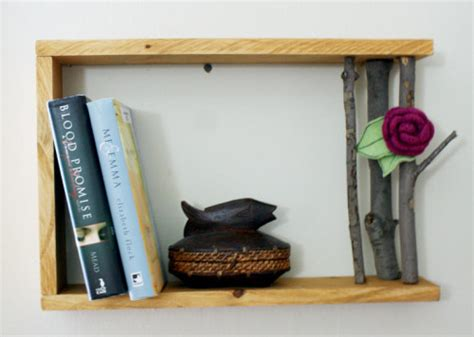 Handmade Shelf - handmade wood tree branch shelf diy soap deli news