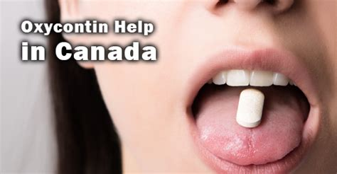 Oxycontin Detox Methods by Oxycontin Help In Canada