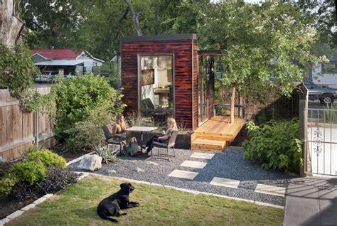backyard austin 92 square foot backyard office modern home office