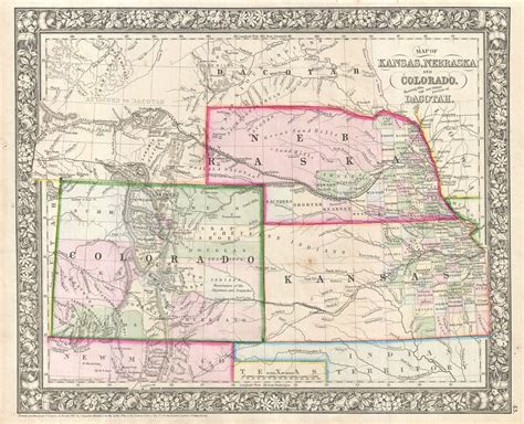 to colorado map file 1866 mitchell map of colorado nebraska and kansas
