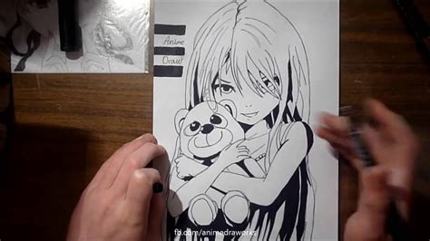 anime eyes drawing in pencil how to draw lovely anime girl only pencil and marker