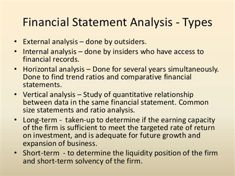 sle of financial statement analysis report financial statement analysis