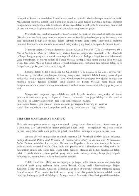 format buku hubungan masyarakat konsep masyarakat majmuk