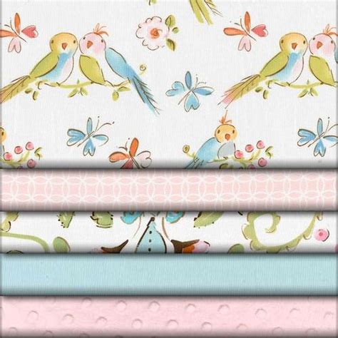 bedding fabric love birds fabric collection carousel designs