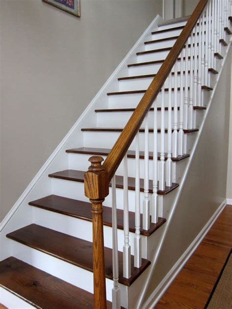 wood staircase 25 best ideas about painted wood stairs on pinterest