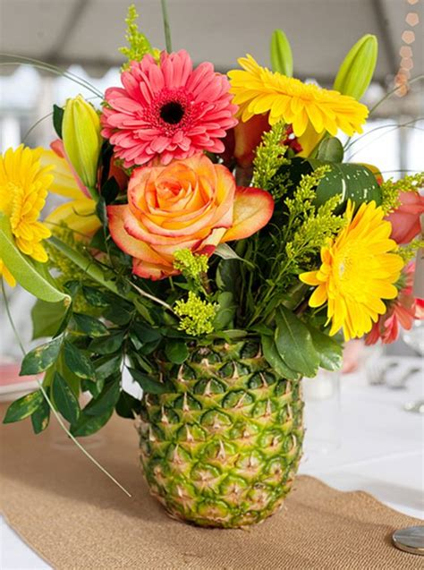 pineapple centerpieces ideas 31 colorful luau decor and serving ideas shelterness