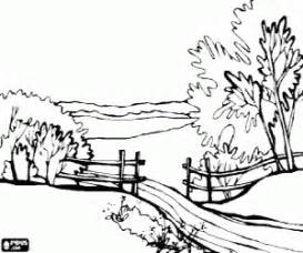 Woods Landscape Coloring Pages Sketch Page sketch template