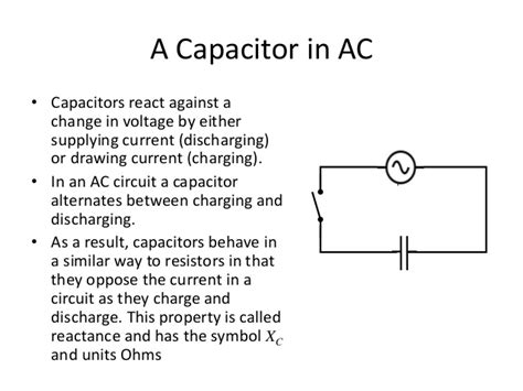 capacitor ac charging circuit ac in rc circuits