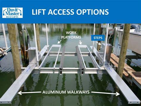 boat lift winch maintenance davit master parts accessories