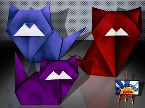 How To Fold An Origami Cat - 54 best origami cats images on origami cat