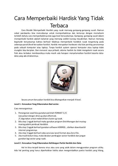 Hardisk Yang 1 Cara Memperbaiki Hardisk Yang Tidak Terbaca