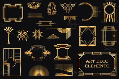 design elements of art deco 37 art deco design elements vol 1 illustrations on