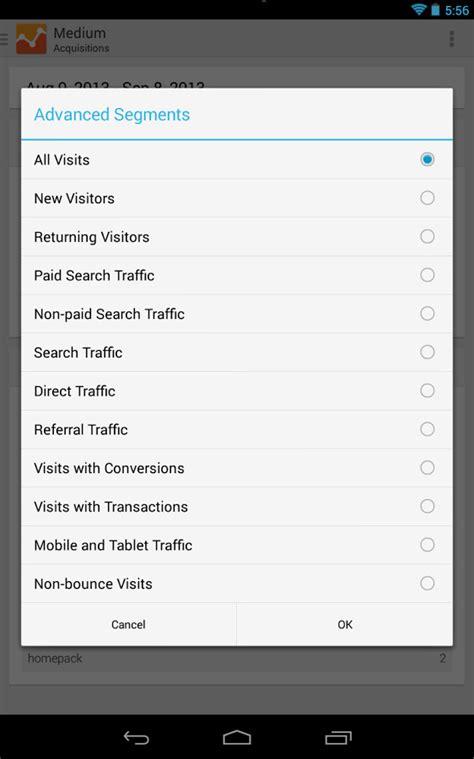 analytics android nieuwe versie analytics voor android websonic