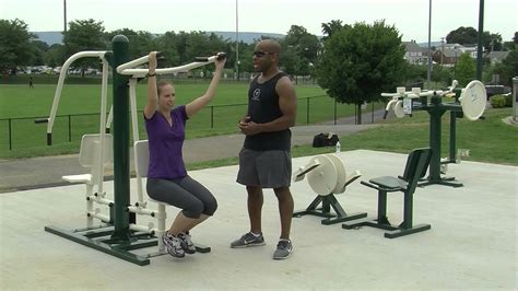 backyard gym equipment new to fairgrounds park outdoor fitness equipment workout youtube