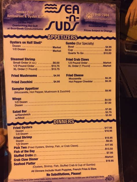n suds menu menu back yelp