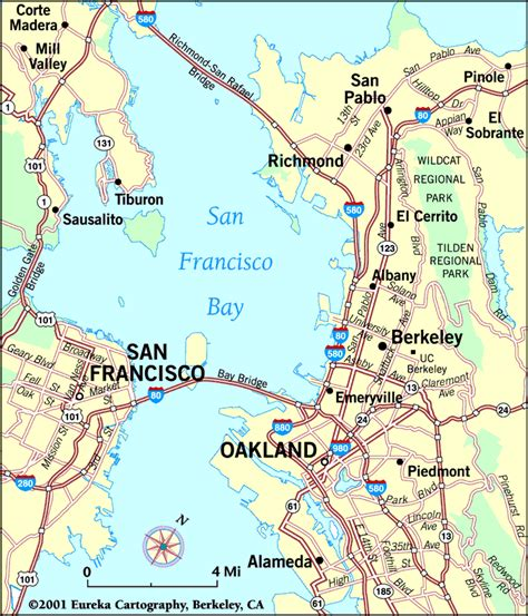 san francisco map berkeley san francisco bay area images