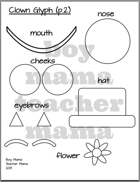 clown hat template clown glyph and free circus word search