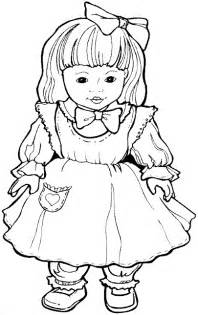 doll coloring pages kidprintables coloring pages