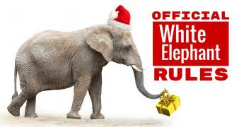 Official white elephant gift exchange rules