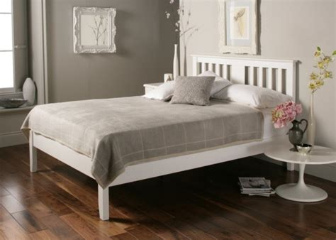 Malmo White Wooden Bed Frame Painted Wood Wooden Beds Wooden Beds