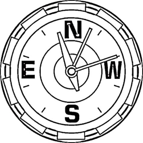 Compass Coloring Pages free compass coloring pages