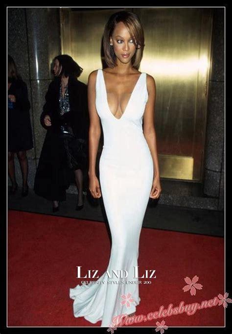 Tira Dress banks white sleeveless v neck mermaid prom gown