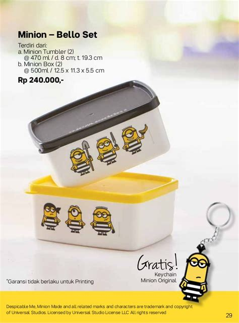 Harga Grosir Despicable Me 2 Lunch Box Character 2 Layer 087837805779 tupperware 2017 bulan agustus