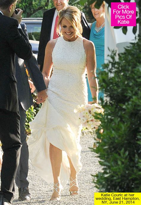 Katie Couric Married: See Her Wedding Dress   Hollywood Life