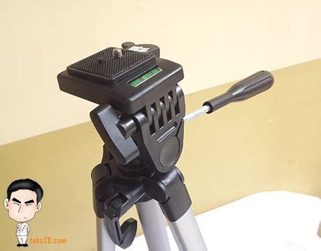 Tripod Excell Promoss Surabaya tripod kamera dslr tinggi 1 3m berat 765gr kapasitas 3kg