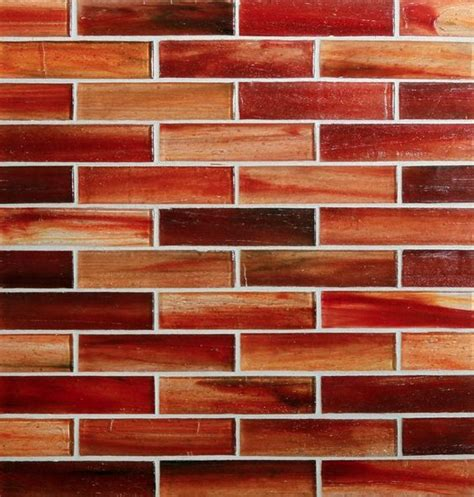 tozen  brick  marrakech red natural glass tile