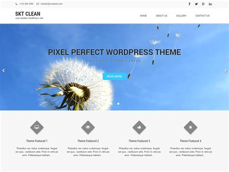 clean lite free wordpress theme