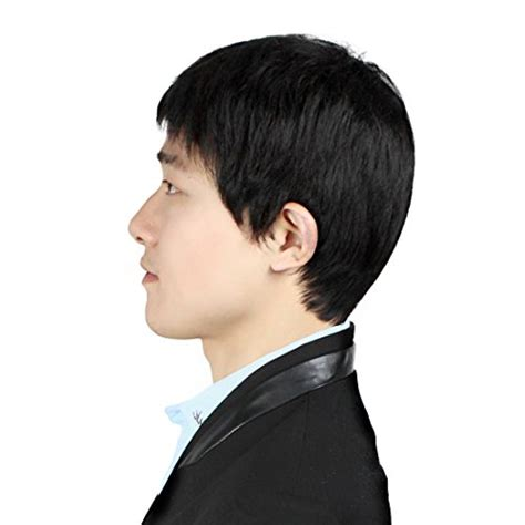 wigs for middle aged men bestung middle age mature toupee human hair black color