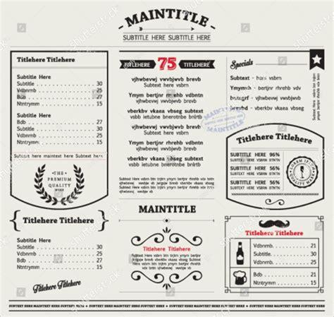 menu design editable restaurant menu template 25 free premium download