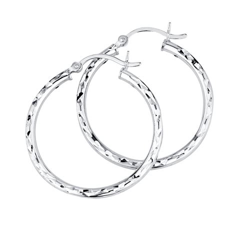 Earrings Sterling Silver hoop earrings in sterling silver