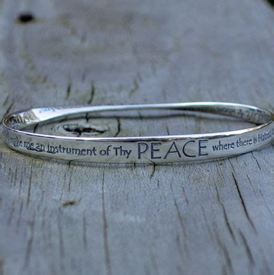 St Francis Prayer Mobius Bracelet ? ChristianGiftsPlace.com Online Store