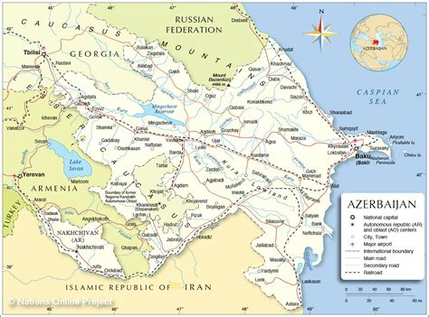 Political Map Of Azerbaijan Nations Online Project | political map of azerbaijan nations online project