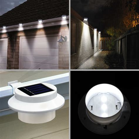 solar powered gutter light reviews 4pcs 8pcs 12pcs solar power gutter fence light outdoor