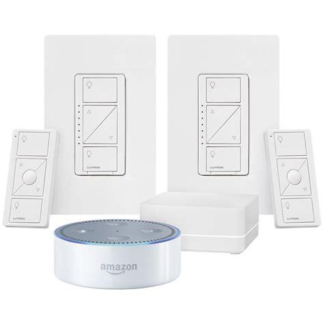 echo dot light control echo dot 2nd gen with lutron caseta smart lighting control