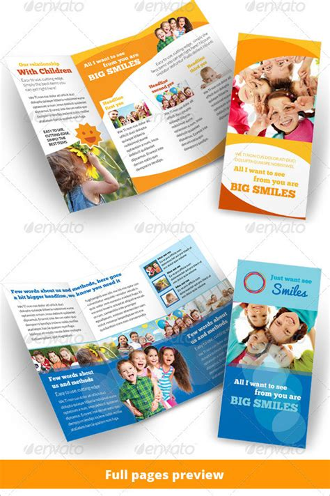 24 Kindergarten Brochure Templates Free Premium Templates Preschool Brochure Template Free