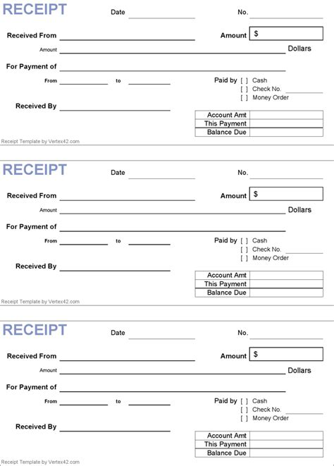 8 payment receipt templates for any organization
