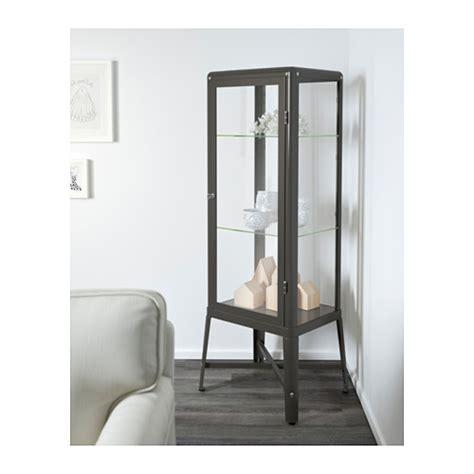 fabrikor ikea fabrik 214 r glass door cabinet dark grey 57x150 cm ikea