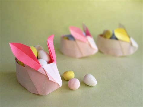 Easter Origami Bunny - how to make an origami easter rabbit basket by origami