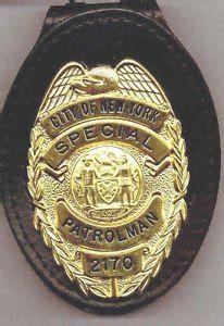 nypd style school safety teardrop badge cut  belt clip