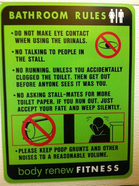 men bathroom rules bathroom rules at the gym humorous junk pinterest