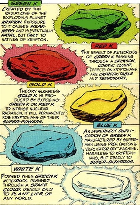 what color is kryptonite the dork review the colors of kryptonite