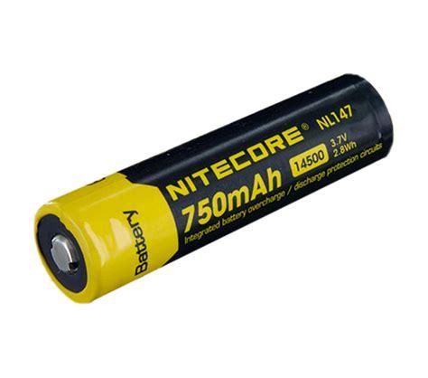 Nitecore 14500 Baterai Li Ion 850mah 3 7v Nl1485 nitecore protected 14500 aa size 3 7v 750mah li ion battery nl147 mr positive nz