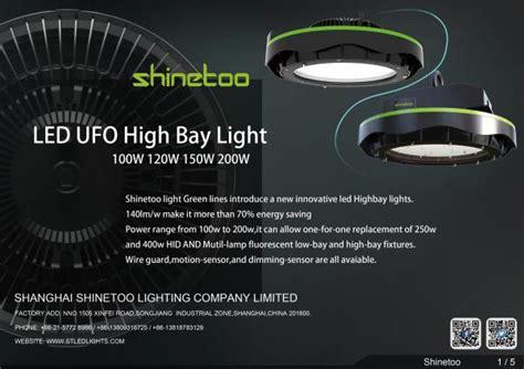 Shinetoo Lighting Catalogue And Datasheet Shinetoo Ufo Led Lights Catalogue